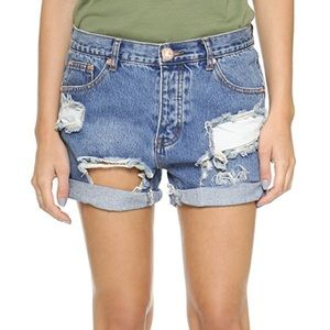One Teaspoon Chargers Distressed Shorts 28